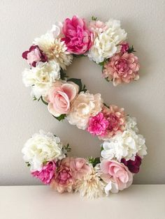 Floral Letter 19 24 Large Flower Letter Floral by BegoniaRoseCo hochzeit tischdeko Floral Letter Large Flower Letter, Floral Initial, Custom Floral Letter Nursery, Shabby Chic Decor, Floral Monogram Chic Nursery, Floral Nursery, Girl Nursery, Blush Nursery, Floral Room, Themed Nursery, Baby Wall Art, Nursery Wall Art, Nursery Decor