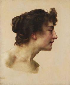 William Adolphe Bouguereau, Étude de tête d'Elize Brugière