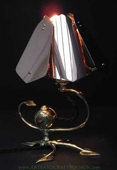 WAS Benson electric lamp