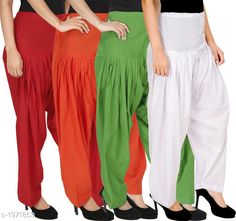 Ethnic Bottomwear - Patiala Pants Women's Solid Cotton Patiala Pant ( Pack of 4 ) Fabric: Cotton Waist Size:  M- 30 in, L- 32 in, XL- 34 in , XXL - 36 in Length: Up to 39 in Type: Stitched Description: It has 4 Pieces Of Patiala Pant Pattern: Solid Sizes Available: Free Size, S, M, L, XL, XXL, XXXL, 4XL *Proof of Safe Delivery! Click to know on Safety Standards of Delivery Partners- https://ltl.sh/y_nZrAV3  Catalog Rating: ★4.2 (5909)  Catalog Name: Eva Women's Solid Cotton Patiala Pants Combo Vol 17 CatalogID_260422 C74-SC1018 Code: 494-1971853-
