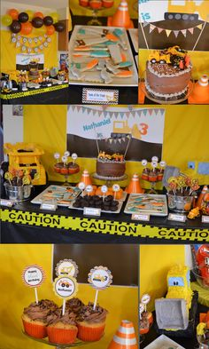 Construction Birthday Party Pack- Print Your Own. $25.00, via Etsy.