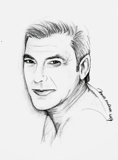 visage and face: george cloney Face, Log Projects, Drawings, Faces