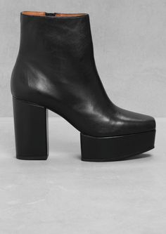 & Other Stories | Chunky Leather Ankle Boot