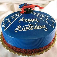I can do this spidermad cake... much easier than the Thomas last year!