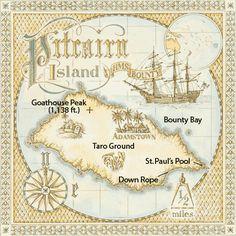 Map: Pitcairn Island