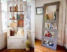 90 Έπιπλα και κατασκευές απο παλιές πόρτες και παράθυρα!   Φτιάξτο μόνος σου - Κατασκευές DIY - Do it yourself