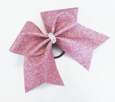 $11.50. Rose gold cheer bow, Cheer bow, glitter Cheer bow, rose gold glitter cheer bow, cheerleader bow, cheerleading bow, cheer bows, softball bow #cheerleading #ad