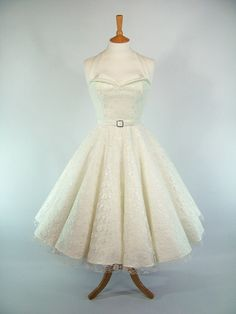 Made To Measure Ivory Duchess Satin & Lace Full Circle Skirt Petal Bust Dress - Detachable Straps and Belt