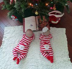 The Twin's Christmas picture-- My precious pseudo niece and nephew! Lucas Paul & Caroline Belle <3