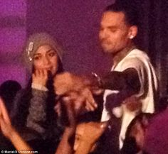 Star-studded: Chris Brown and Nicole Scherzinger hosted an event at Supperclub in Hollywood on Tuesday night