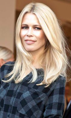 Claudia Schiffer's Incredible Blonde Hairdo, 2011