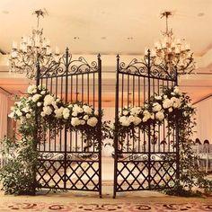 Wrought Iron Garden Gate Decor