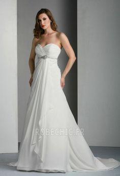 Robe de mariée Plage Chiffon Poétique Sans Manches Bustier Automne