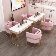 Pink Nail Salon, Home Nail Salon, Nail Salon Design, Nail Salon Decor, Beauty Salon Design, Beauty Salon Interior, Beauty Studio, Spa Interior Design, Boutique Interior
