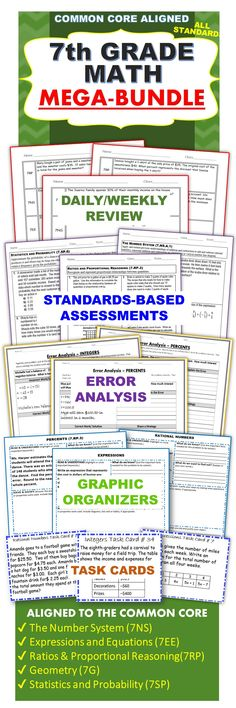 206 best common core ccss m images on pinterest common core math 7th grade math common core bundle assessments warm ups task cards worksheets fandeluxe