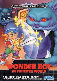 Wonder Boy in Monster World, 1991 - My video game comfort food. Sega Mega Drive, Mega Drive Games, Epic Games, Sega Genesis, Sega Video Games, Videogames, Sega Cd, Pc Engine, 1980s