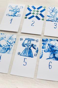 ADORO: Identificação de mesas inspirada em azulejos // Table names inspired on portuguese tiles