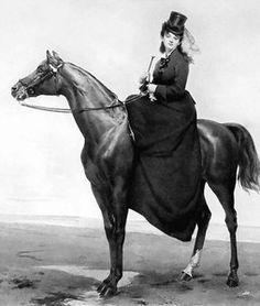 19th Victorian Lady Side Saddle Horse Riding Outfit