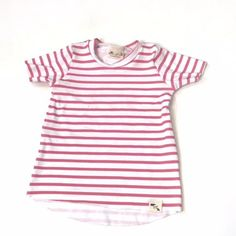 Basic Salmon Stripe- Edgy Tee Salmon, Bear, Fabric, Cotton, How To Wear, Collection, Tops, Women, Style