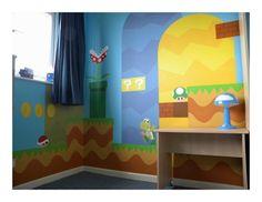 Look at this childs room! Arcade Game Room, Arcade Games, Bedroom Murals, Meeting Someone, Geek Art, Super Mario Bros, Kids Room, Art Gallery, Geek Stuff