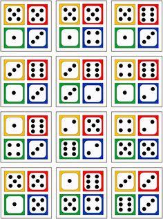 Lernstübchen: 4 Würfelbilder zur Erfassung von Anzahlen bis 20