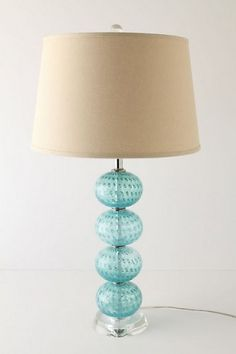 Contemporary  Crate And Barrel Sea Glass Lamp and sea glass chandelier lighting