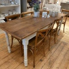 love the farmhouse table and seagrass chairs Ideas for the Home