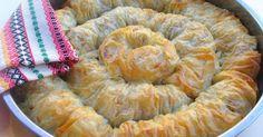 Зелник - вита баница с кисело зеле, кайма и ориз