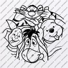 Disney SVG Bundledisney svg bundledisney bundle svgdisney princess svgdisney font svgdxf files for cricutdisney charactersdisney castledisney vector setdisney packdisneyland familyyoda star wars svgdumbo frozen svgmega png collection Winnie The Pooh Tattoos, Winnie The Pooh Drawing, Disney Winnie The Pooh, Winnie The Pooh Shirt, Disney Diy, Disney Crafts, Disney Stencils, Disney Decals, Disney Fonts