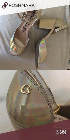 NWT Iridescent Carmen Steffens block heels Genuine leather 🦄 Super comfy 🍭 Luxury brand made in Brazil carmen steffens Shoes Heels