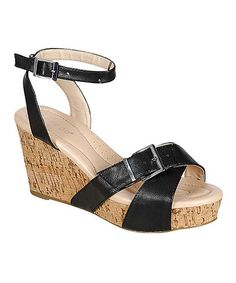 Black Levana Wedge #zulily #zulilyfinds