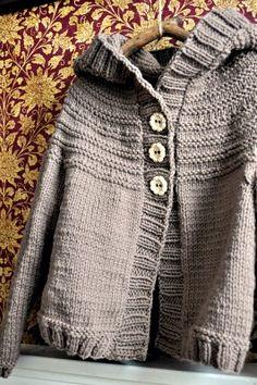 Silver Trumpet Style; Odette Hoodie, pattern by Carrie Bostick Hoge. Yarn is Lark by Quince & Co.
