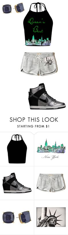 """""""Big Cass's little sister"""" by kileighj ❤ liked on Polyvore featuring NIKE, Hollister Co. and Kate Spade"""