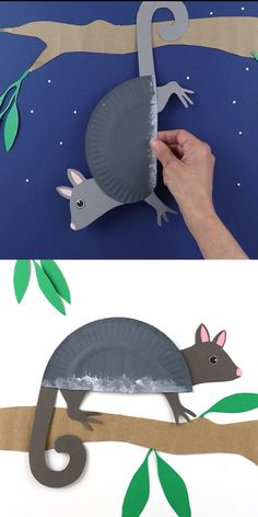 Make a Ringtail Possum from a paper plate and our printable template. This is a fun Australian animal craft for kids! Make a cute RIngtail possum from a paper plate using our printable template. This is a fun Australian animal craft for kids! Giraffe Crafts, Ocean Animal Crafts, Bear Crafts, Animal Crafts For Kids, Animal Activities For Kids, Animals For Kids, Koala Craft, Lion Craft, Snake Crafts