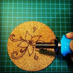 Crafting.. #pyrography #woodburning #corkburning #cork #sousverre #coaster #coasterart #kitchentools #kitchensupplies #kitchendecor #diy #doityourself #handmade #crafting #crafter #occasionalcrafter #EviG_Crafted #apartmenttherapy #thekitchn