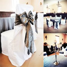 chair covers and sashes ciao baby high 2082 best images decorated chairs white siver candleabra silver taffeta tablecloths