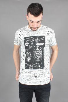 T-Shirt Pepe Jeans uomo Velvet Off White PM502636-803 | €40.00
