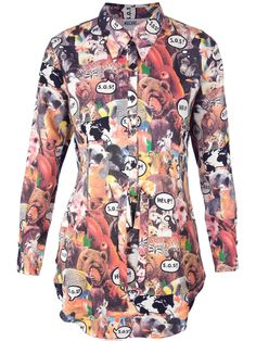 Animals and speech bubbles? We're obsessed with this rad Moschino Vintage printed top