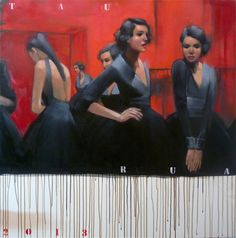 "Saatchi Online Artist: TAURUA Pascale; Oil, Painting """"Backstage"""""