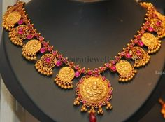 Jewellery Designs: Ganesh necklace with Rubies