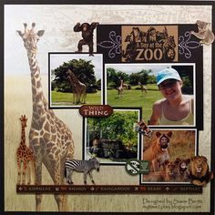 A Day At the Zoo - Paper House Productions - Africa Collection - 12 x 12 Paper - Africa Map