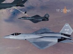 YF-23 Black Widow Flight Refueling