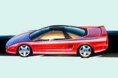 1989 Acura NSX sketch side