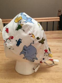 29a421dfe90 Dr Seuss Characters Scrub Hat by StitchinMyStash on Etsy