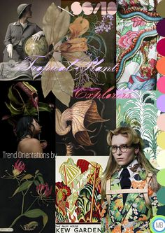 "Trend Orientations © Mirella Bruno Textile Print Trend Colour Design 2016. ""Tropical Plant Explorers"" SS/18. Propagating since September 2015. http://cargocollective.com/mirella-bruno-print-designs/Inspiration-Information"