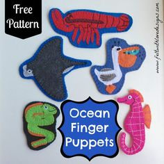 Ocean Finger Puppets - Felt With Love Designs