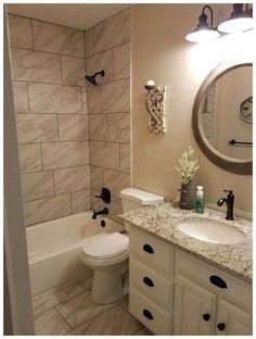 8 Marvelous Ideas: Bathroom Remodel Design bathroom remodel storage the doors.Bathroom Remodel Paint Builder Grade bathroom remodel on a budget color schemes. Bathroom Makeover, Bathroom Vanity Designs, Diy Bathroom Makeover, Diy Bathroom Remodel, Bathroom Renovations, Bathroom Design, Bathroom Decor, Small Bathroom Remodel, Tile Bathroom