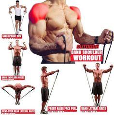 Shoulder Workout Cable, Shoulder Workouts For Men, Chest Workout For Men, Cable Workout, Shoulder Exercises, Pec Workouts, Biceps Workout, Chest Workouts, Band Workouts