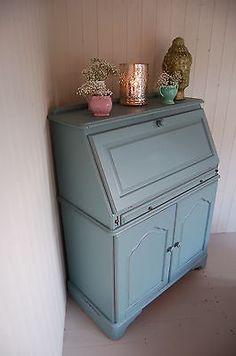 Hand Painted Pine Writing Desk/Bureau