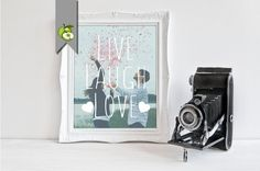 Live laugh love photo gift printable gift for by TheArtyApples